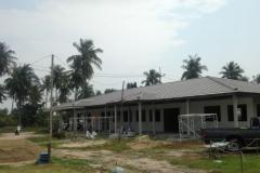 Bygget av nya skolhuset