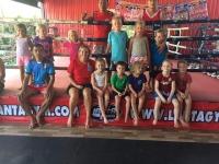 Thaiboxning med thaiboxarna på lanta sport complex