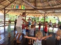 Förskolan har rörelse utomhus.