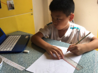 Skolarbete i klassrum Boo individuella arbetsscheman Geometri