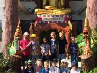 Chang har besökt det buddistiska templet.